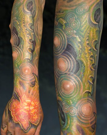 Tattoos - Crystal hand with ripples - 33883