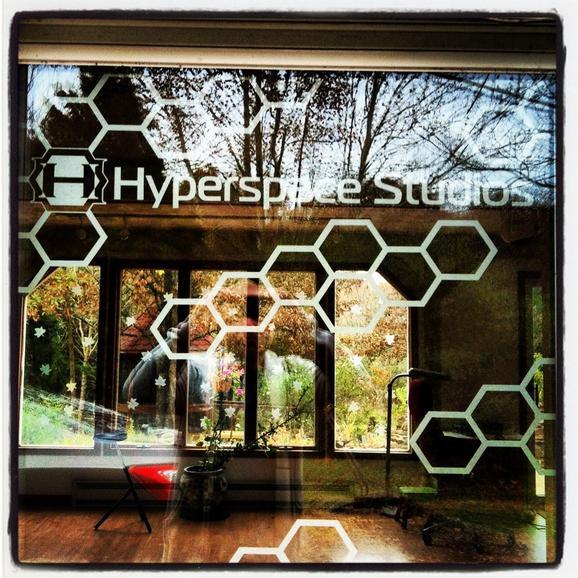 Michele Wortman - Door Decal at the Studio