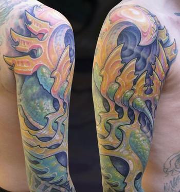 Tattoos - Yellow Bio Sleeve - 33849