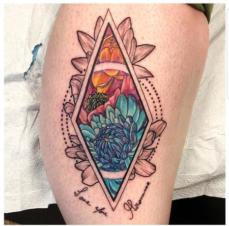 Tattoos - Geometric Flowers - 139511
