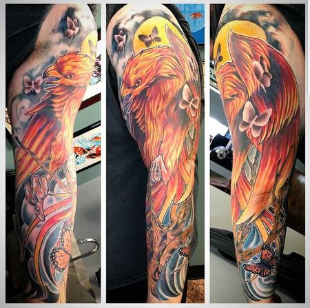 Tattoos - Phoenix Sleeve - 135105