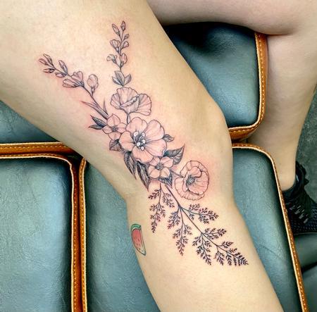 Tattoos - floral - 142797