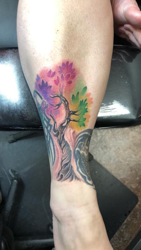Tattoos - Watercolor tree tattoo - 132956