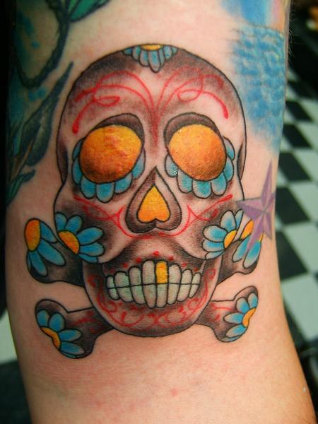 Tattoos - Sugar Skull Tattoo - 61088