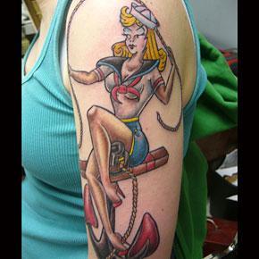 Tattoos - Traditional Sailor Girl Tattoo - 61086
