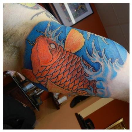 Tattoos - Koi under arm - 80199