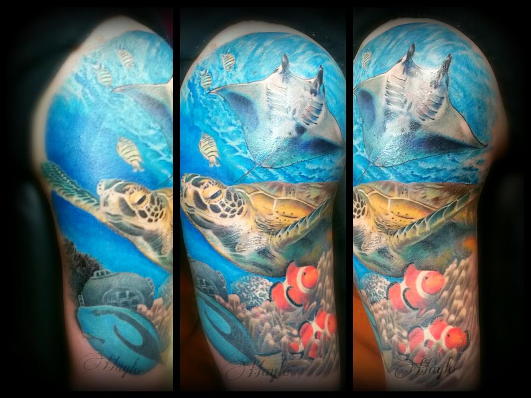 Image result for underwater stingray tattoo