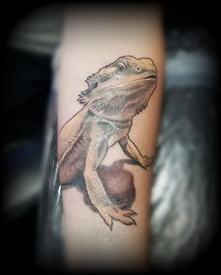 Tattoos - Bearded Dragon forearm tattoo by Haylo  - 141189