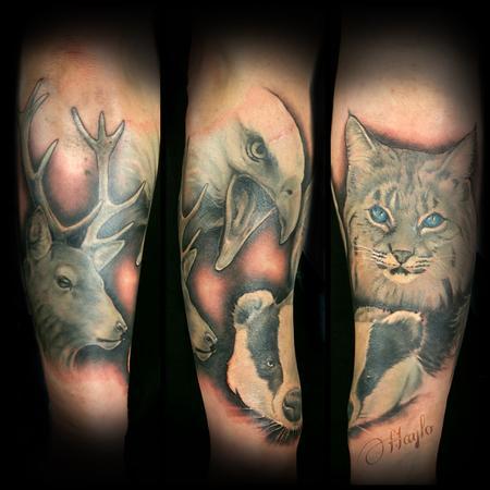 Tattoos - Wildlife half sleeve - 119379