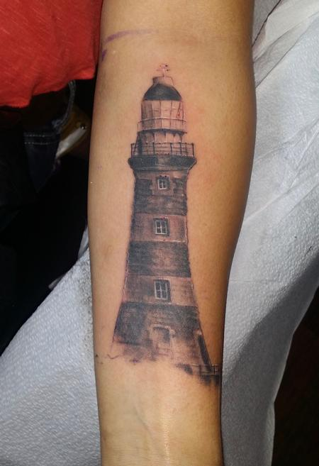 Haylo - Lighthouse realistic black and gray