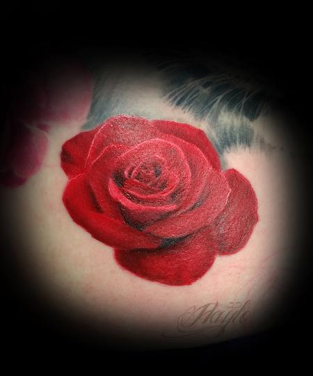 Tattoos - Red Rose - 125227