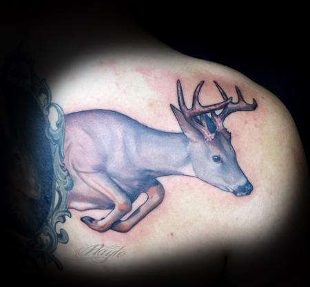 Haylo - Deer / stag tattoo by Haylo