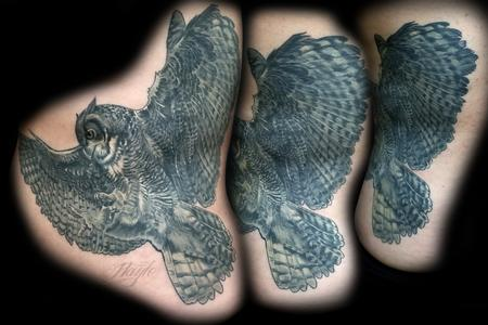 Tattoos - Great Horned Owl Tattoo by Haylo - 141215
