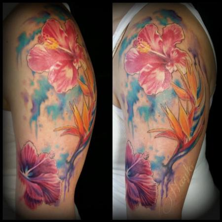 Tattoos - Watercolor Floral tattoo by Haylo - 141592