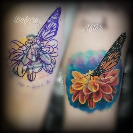 Tattoos - Butterfly cover up by Haylo - 141194