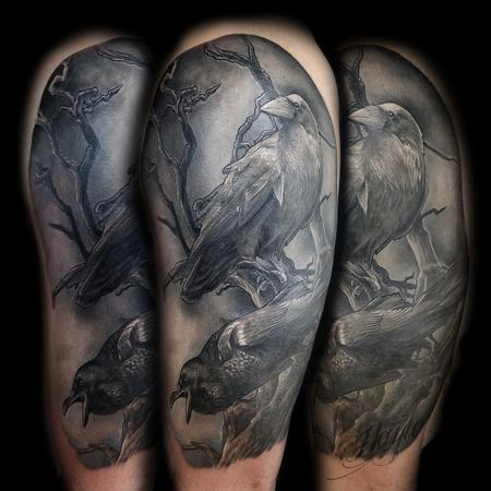 Tattoos - Odin's Ravens tattoo by Haylo  - 141147