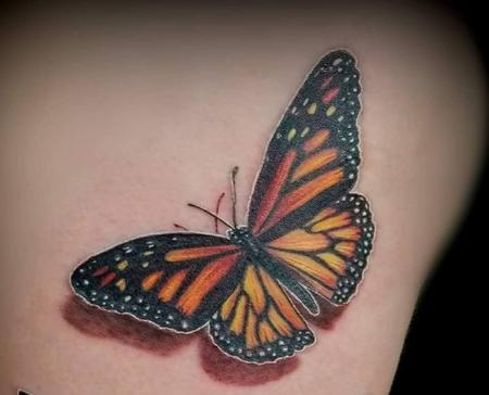 Haylo - Monarch Butterfly tattoo