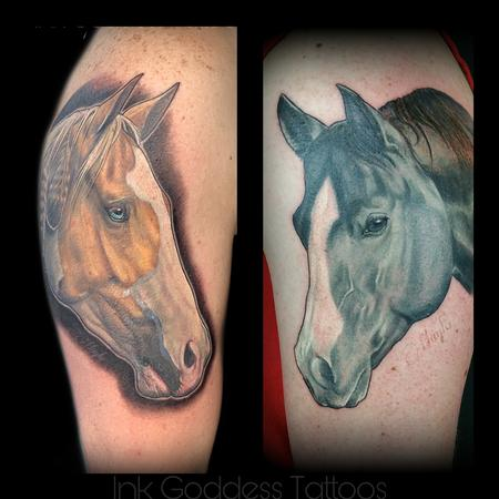 Tattoos - Horse portrait tattoos by Haylo  - 141412