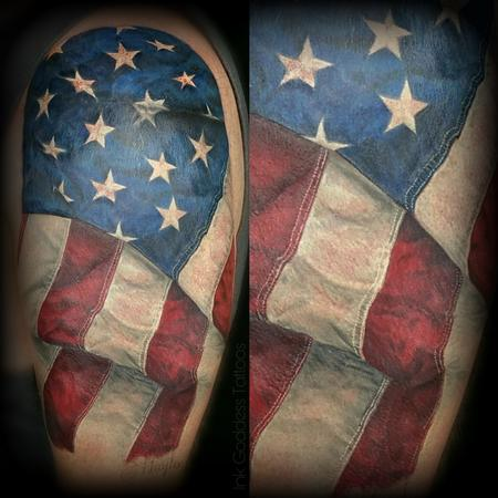 Haylo - American Flag tattoo by Haylo