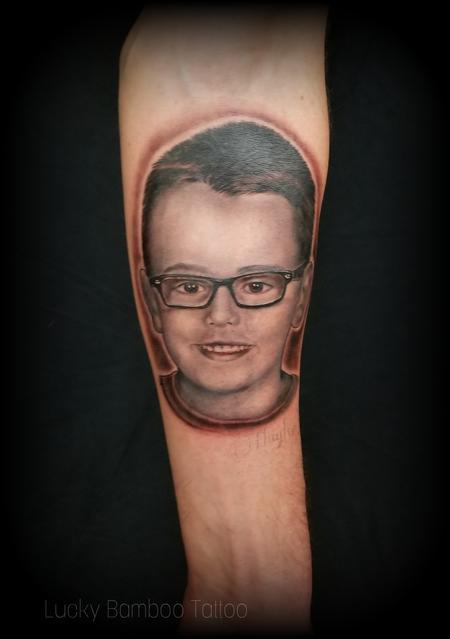 Haylo - Child portrait tattoo by Haylo