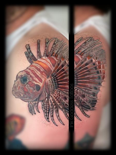 Haylo - Lionfish tattoo by Haylo