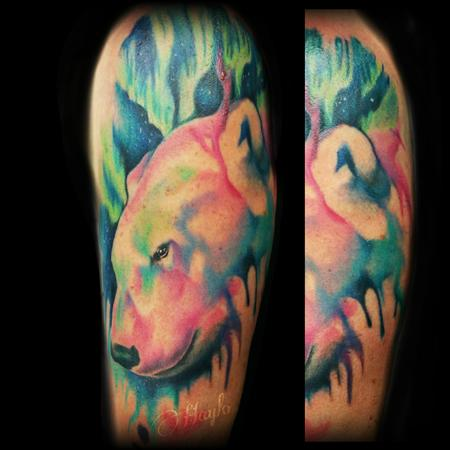 Tattoos - Watercolor Polar Bear - 115138