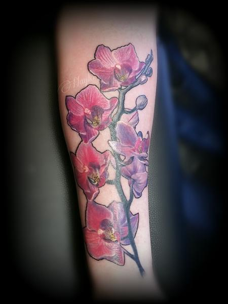 Tattoos - Orchid Forearm piece - 126548