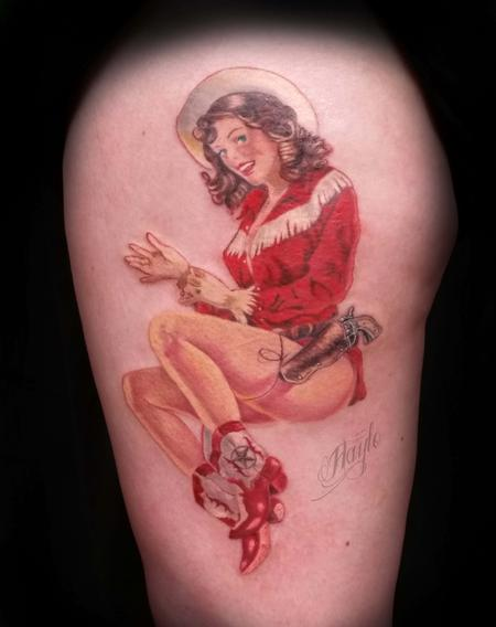 Tattoos - Cowgirl Pin Up - 109907