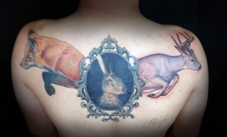 Tattoos - Fox, hare and deer - 109903