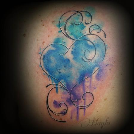 Tattoos - Custom watercolor style heart - 111916
