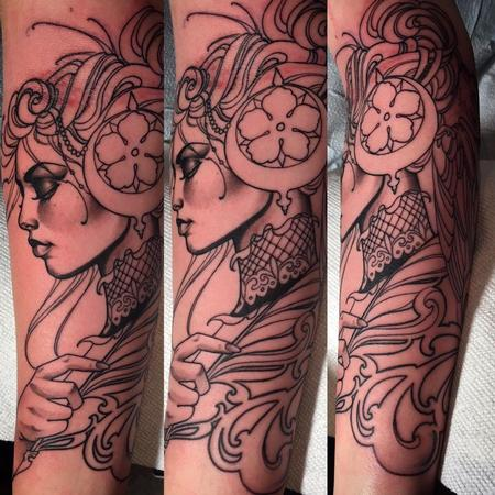 Tattoos - writer and a raven - 113947