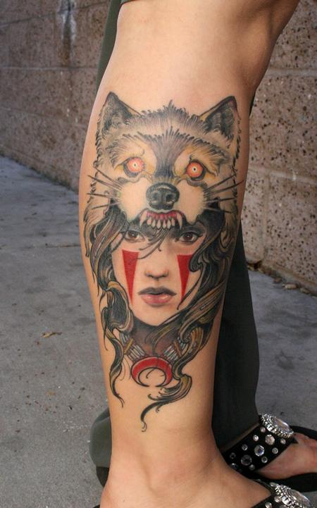 Tattoos - Wolf headdress  - 85959