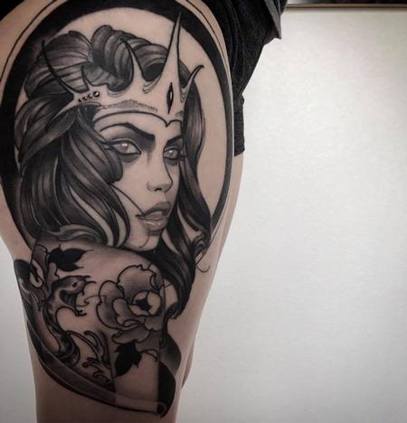 Tattoos - tattooed sea siren  - 126877