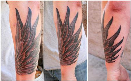 Tattoos - Wing wrapping around forearm  - 75115