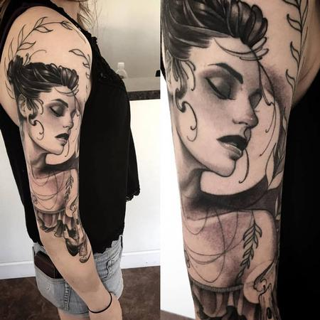 Tattoos - double ended candle girl  - 129141