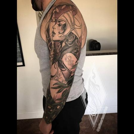 Tattoos - Athena and owl sleeve in progress - 131374