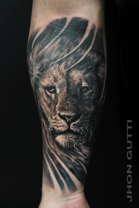 Tattoos - LION PORTRAIT - 101685