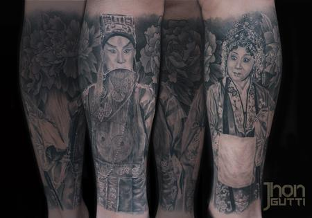 Tattoos - PARENTS PORTRAITS (CHINESE TRADITIONAL COSTUME) - 103919