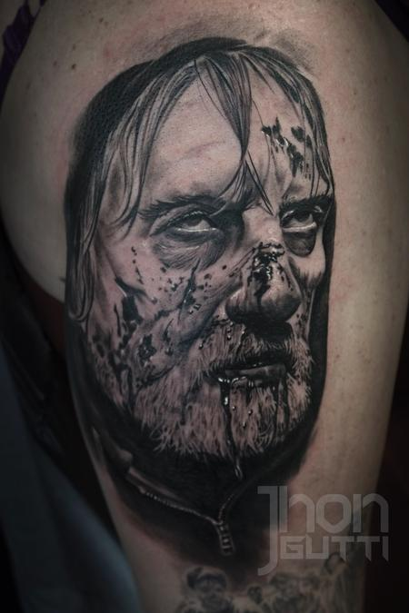 Tattoos - ZOMBIE DAD PORTRAIT - 117137