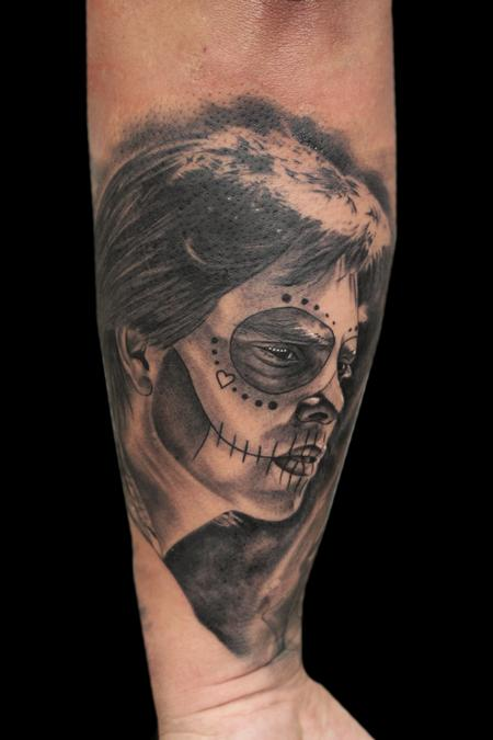 Tattoos - DAY OF THE DEAD PORTRAIT - 101145