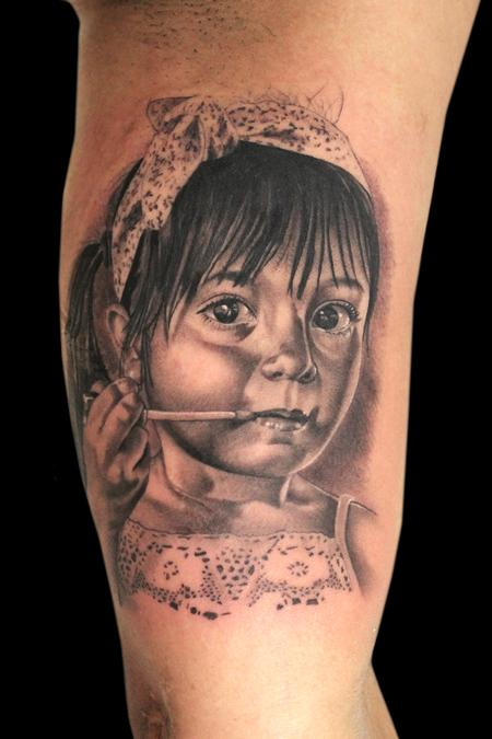 Tattoos - DAUGHTER PORTRAIT - 101193