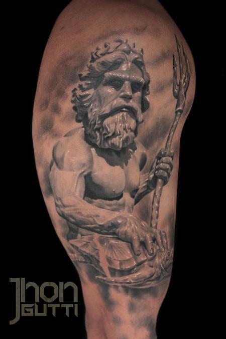Tattoos - NEPTUNE (SCULPTURE AT VIRGINIA) - 104847