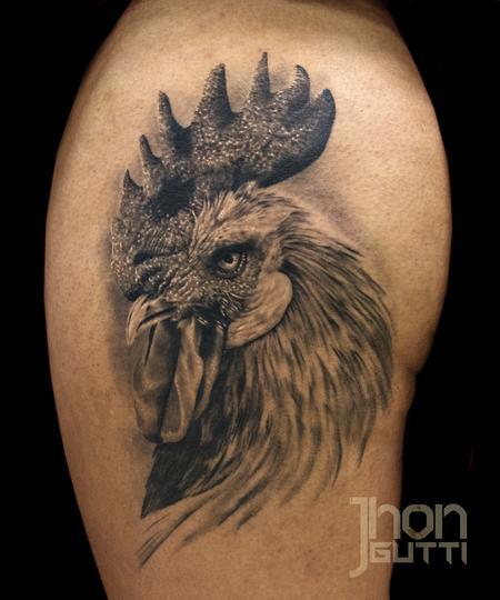 Tattoos - ROOSTER (HEALED) - 106245