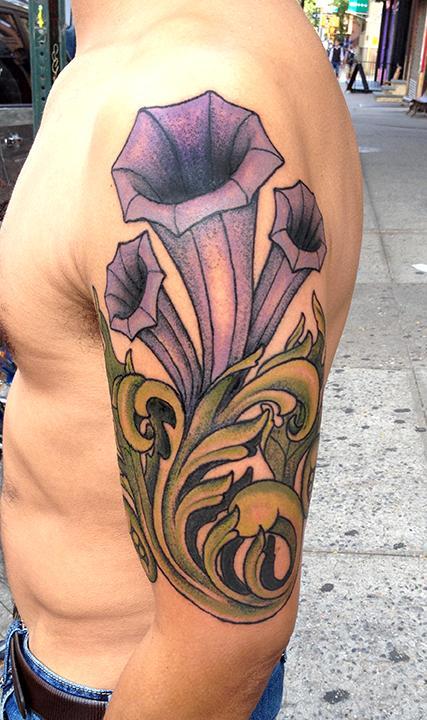 Tattoos - Filigree Flowered Tattoo - 85946
