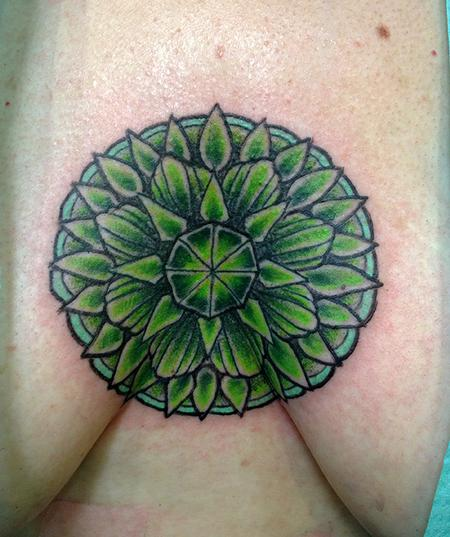 Tattoos - Green Chakra Tattoo - 77062