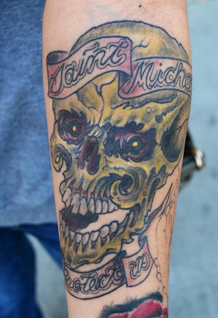 Tattoos - Zombie Skull Tattoo - 60653