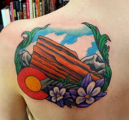 Tattoos - Colorado Red Rocks Tattoo - 117562