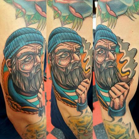 Tattoos - Old Fisherman Tattoo - 123800