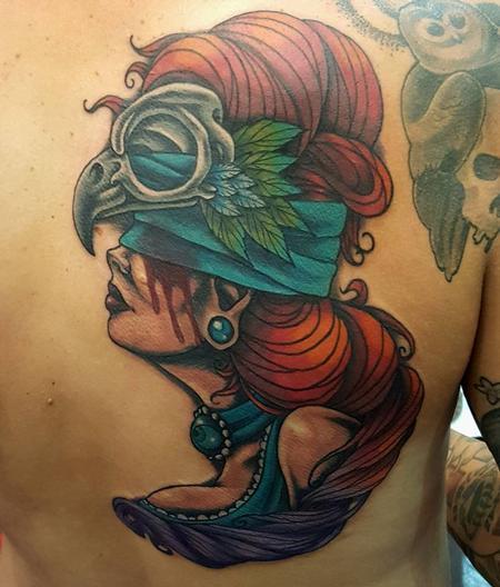 Tattoos - Owl Headdress Witch - 121913