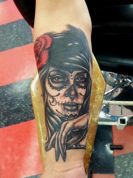 Tattoos - Day of the Dead Woman Tattoo - 138260